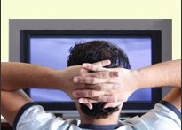 Man watching TV (iStock)