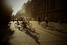 City bicycle activity