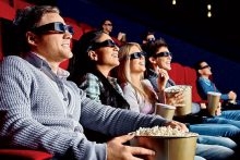 Friends at a movie (iStock)