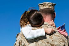 Daughter and military father (iStock)