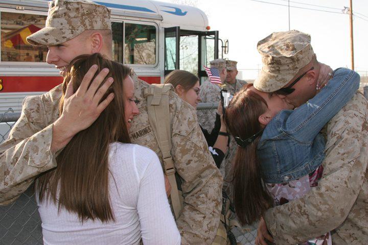 Marines returning