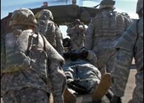 Soldier being evacuated (Army.mil)