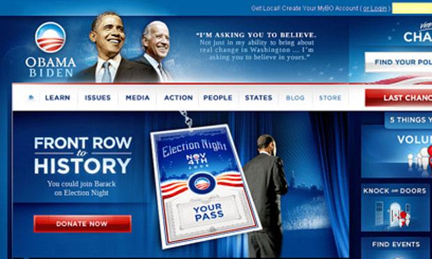 Barack Obama online fundraising site (2012)