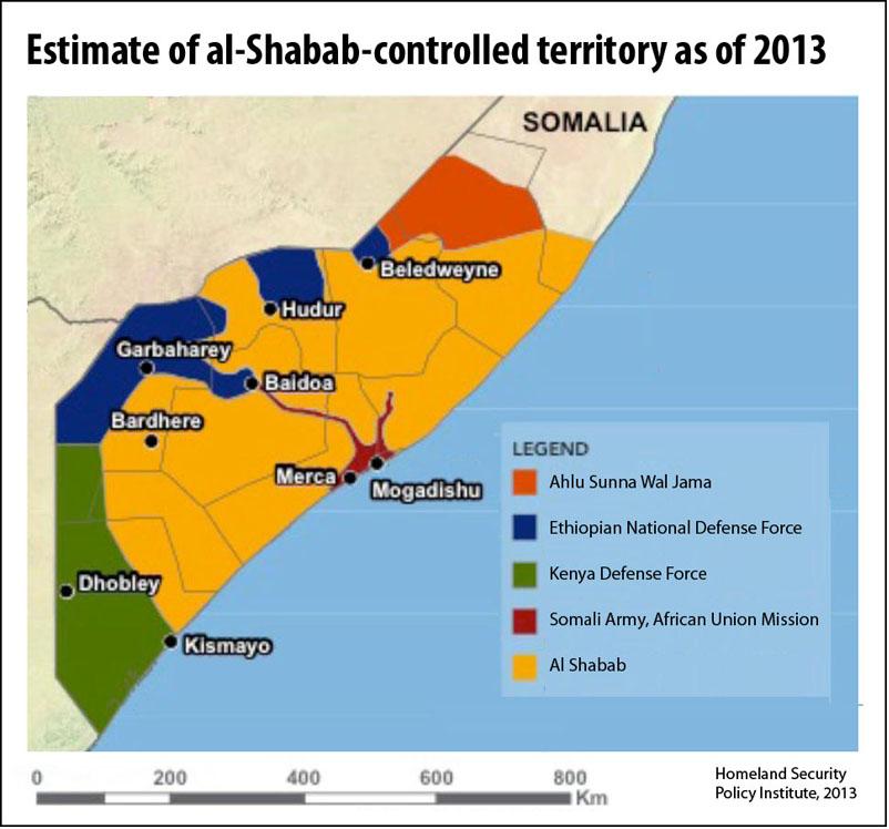 al-Shabab in Somalia, 2013 (HSPI)