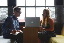 Entrepreneurs in an office