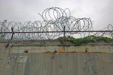 Razor wire on a prison fence