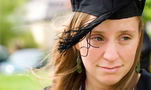 Uneasy graduate (iStock)