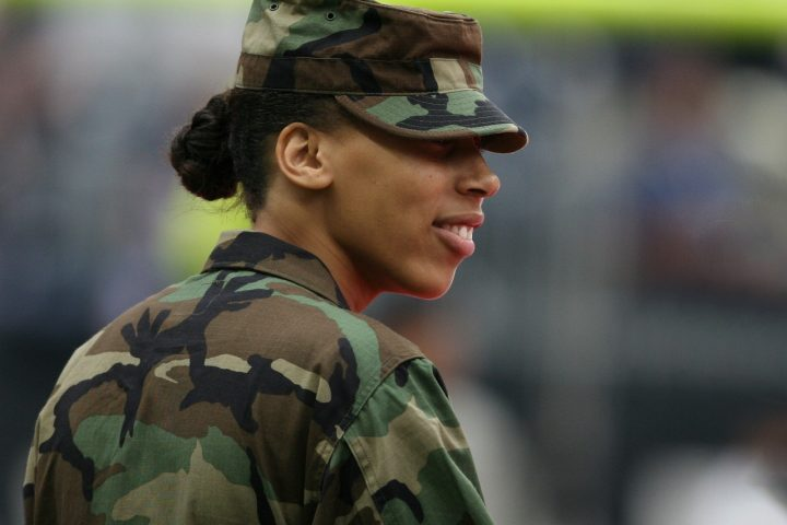 Woman solider