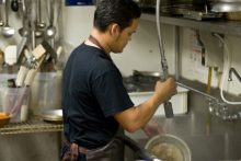 Restaurant dishwasher (iStock)