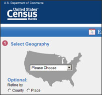 Census Bureau website