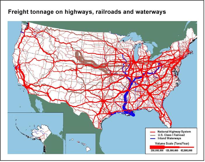 Freight tonnage (U.S. DOT)