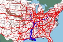 U.S. freight tonnage (U.S. DOT)