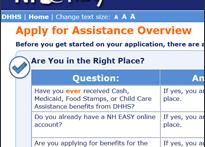 Online assistance application, N.H. (screenshot)