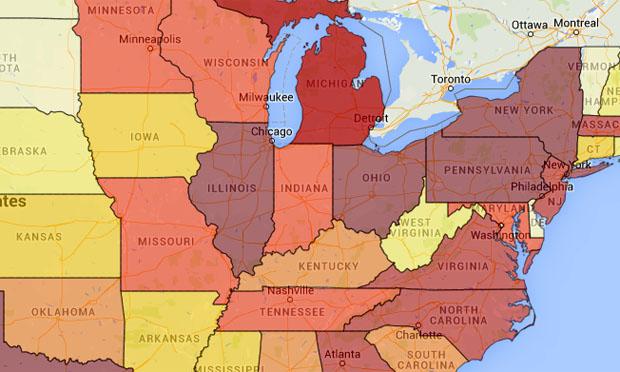 U.S. ethnicity interactive map (U.S. Census Bureau)