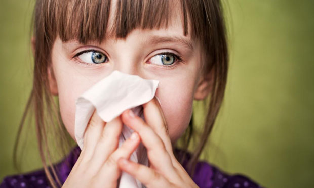 Girl with the flu (iStock)