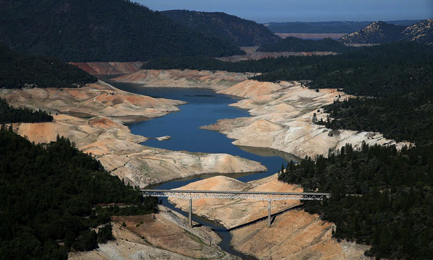 Lake Oroville, California, 2014 (water.ca.gov)