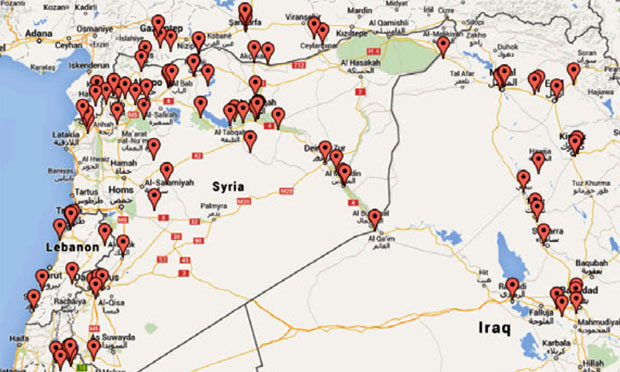 ISIS tweet locations (Brookings.edu)