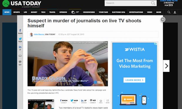 Screenshot of video on USA Today website (usatoday.com)
