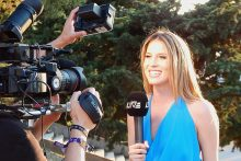 Journalist on camera