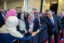 President Barack Obama visits a mosque in Baltimore, Maryland, Feb. 3, 2016. (Official White House Photo by Pete Souza)