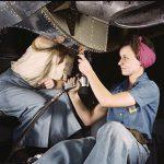 Women at Douglas Aircraft Company, 1942. (Library of Congress)