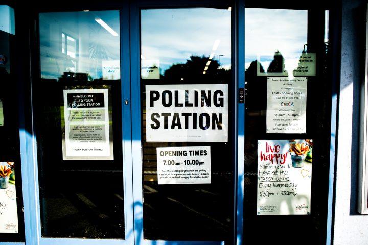 Polling station door