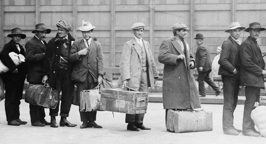 Immigrants at Ellis Island, c. 1900 (Library of Congress)