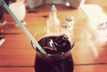 soft drink in a glass