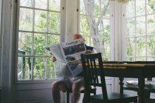 Man reading paper