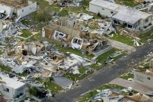Damage from Hurricane Charley, 2004.