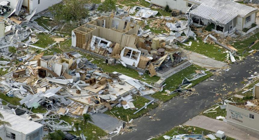 Damage from Hurricane Charley, 2004.