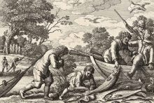 men fishing for salmon