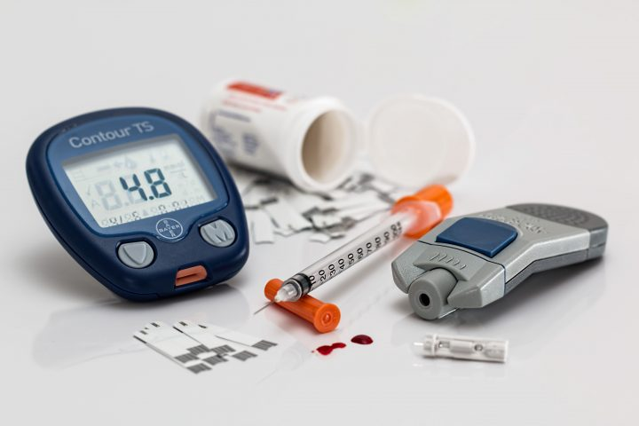 Blood glucose monitor and insulin