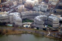 Aerial view of Watergate complex