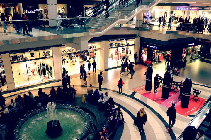 People shopping at the mall