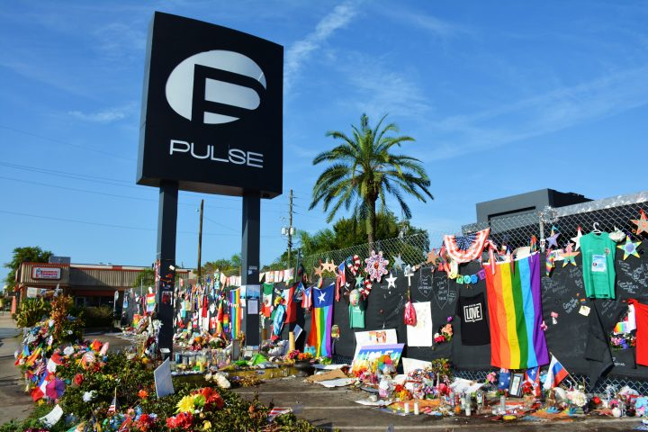 Memorials left at the Pulse nightclub in Orlando, Florida. (Walter/Flickr. Used under CC-BY-2.0 license.)