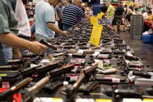 People at a gun show