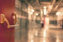 Empty hallway of school
