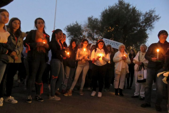 Vigil for shooting victims at Marjory Stoneman Douglas High School in Parkland, Florida.