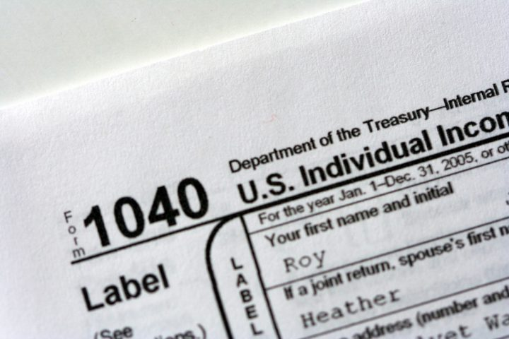 IRS individual income tax return Form 1040