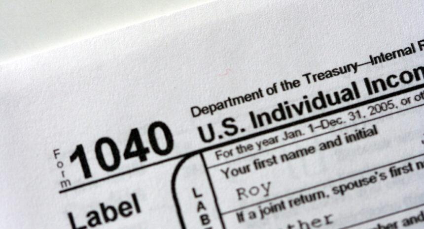 IRS individual income tax return Form 1040