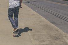 Teen on skateboard