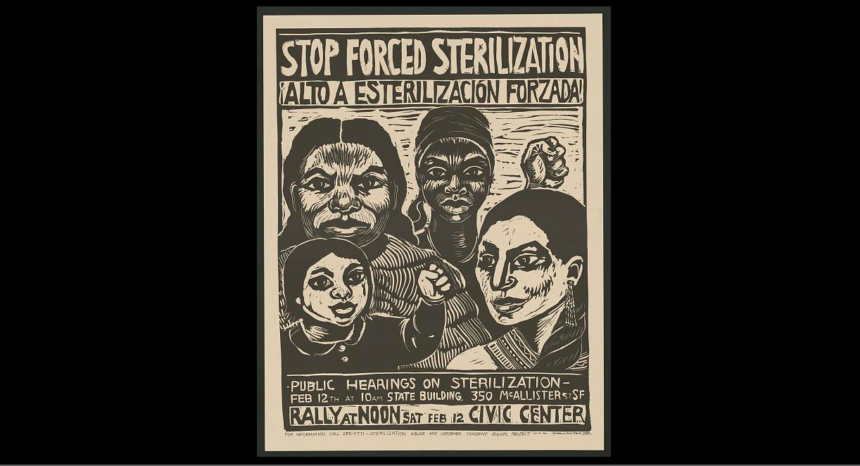 poster against forced sterilization