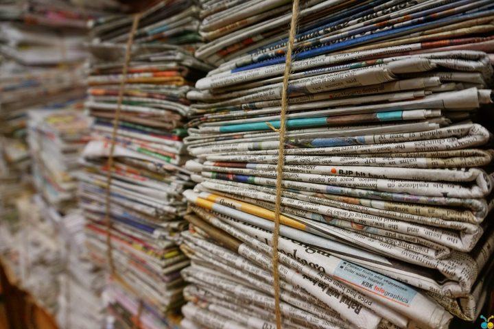 bundles of newspapers