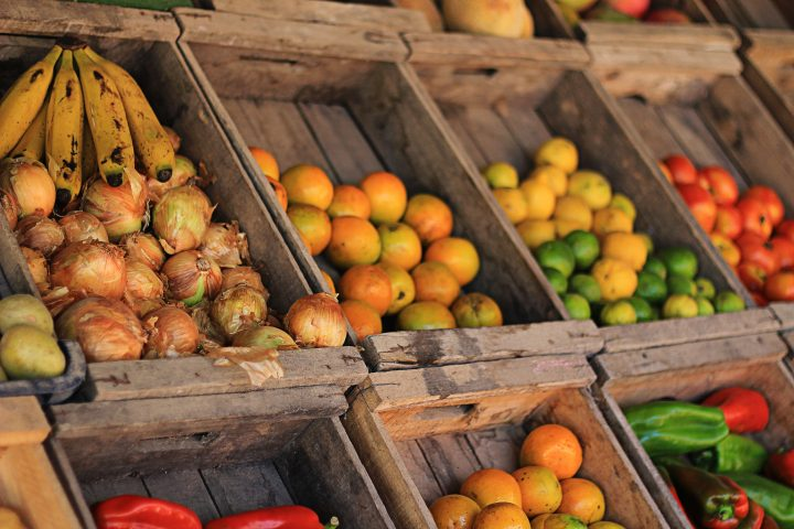 produce in crates