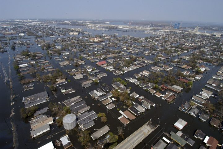flooded new orleans after hurricane katrina