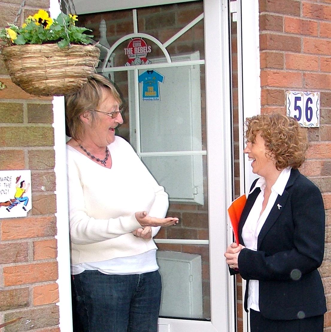 Door-to-door canvassing campaigns can sway voter decisions
