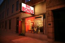 Exterior of business that sells bail bonds