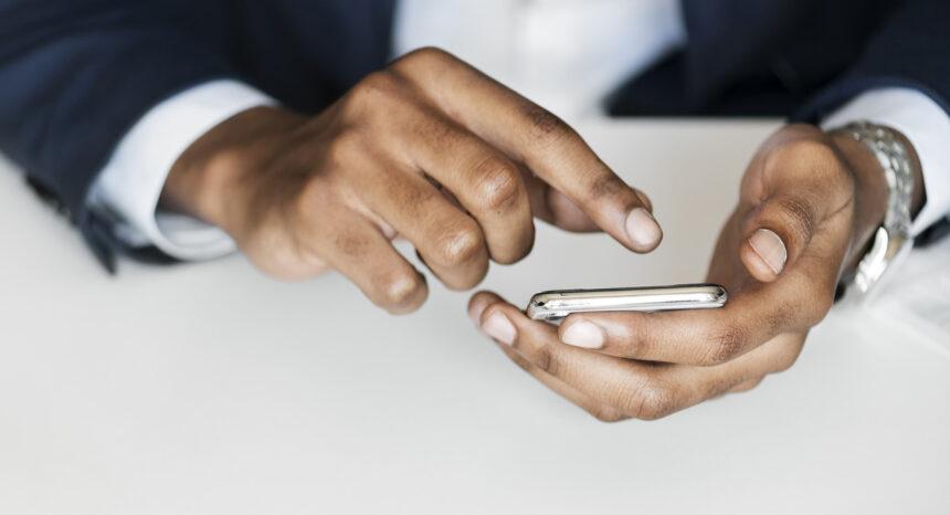 Person using smartphone