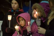Children at vigil